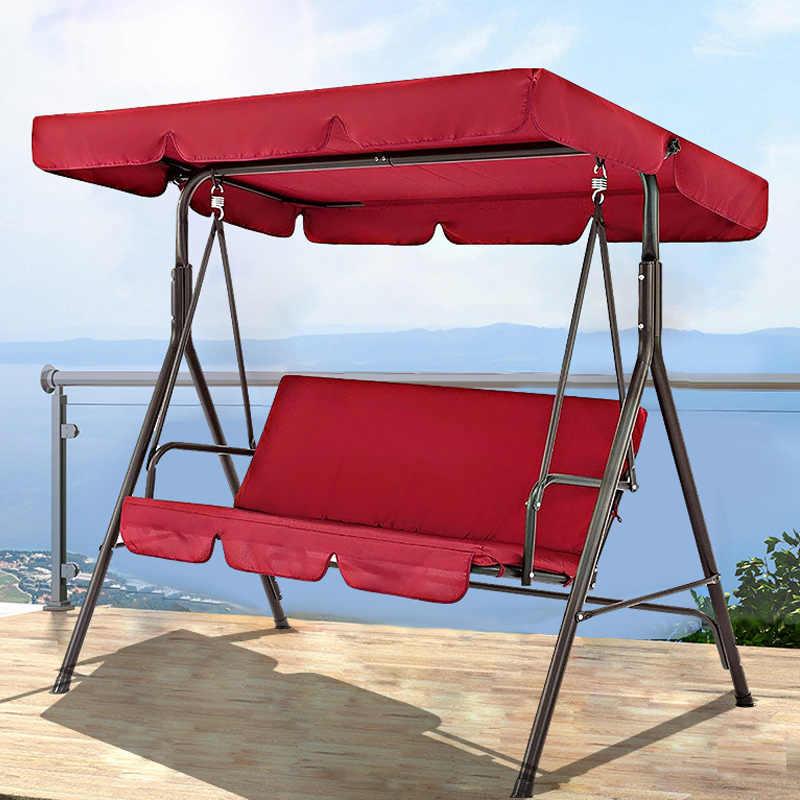 3 seat swing canopies seat cushion cover set patio swing chair hammock replacement waterproof garden