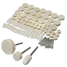 88 Pcs Wool Felt Polishing Wheels Buff Pad With Mandrel For For All Rotary Tools