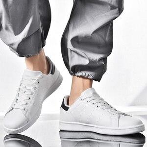 Image 2 - Quatro estações smith sapatos clássicos modelos explosão casal sapatos brancos tendência selvagem antiderrapante sapatos casuais masculinos resistentes ao desgaste