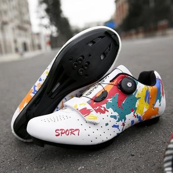2020 novos sapatos de ciclismo dos homens spd esporte da bicicleta tênis hombre profissional mountain road bicicleta sapatos triathlon 1