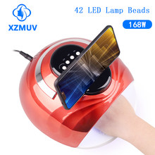 XZM 168W High Power UV LED Nail Lamp Lampara Gels Unhas Lampe Ongle 42 leds Nail Dryer Fast Curing Speed nails tools Gel Light
