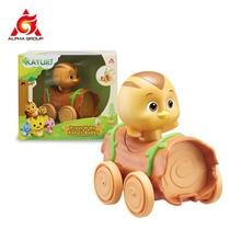 Katuri Animal Chick Shape press n go-series Mobile trolley Kids Toys Baby Educational Toys