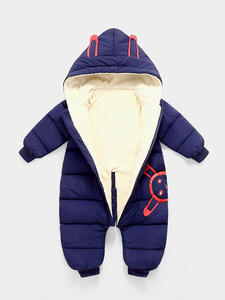 Overalls Coat Bodysuit Romper Snow-Wear Girl Clothes Velvet Newborn Warm Baby Boy Plus