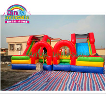 PVC colorful bounce house combo inflatable bouncy castle jumping castlelarge children unicorn bouncy castle with slide for sale(China)