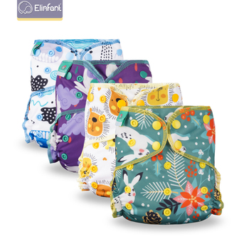Elinfant Eco-Friendly Baby Cloth Diaper Reusable Heavy Wetter Hybrid AIO/AI2 Waterproof Bamboo Washable aio Baby Nappy 1