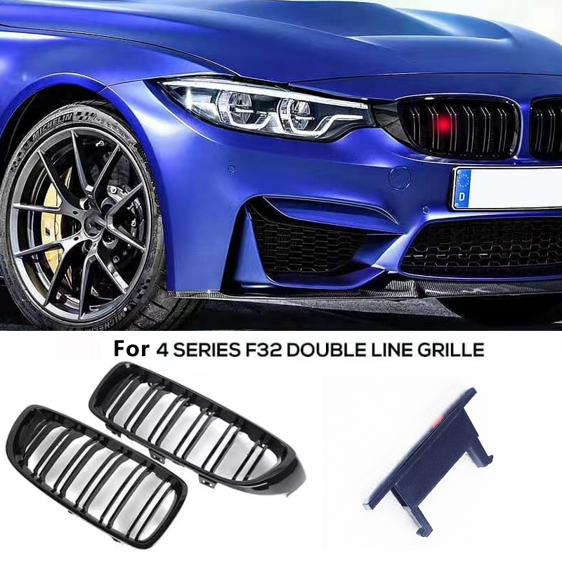 M Power Grille Badge <font><b>Sticker</b></font> for Double Line Grille M3 M5 <font><b>F10</b></font> F30 E90 G30 E60 F22 F23 F07 F31 F34 F32 F12 F13 Grille <font><b>Stickers</b></font> image