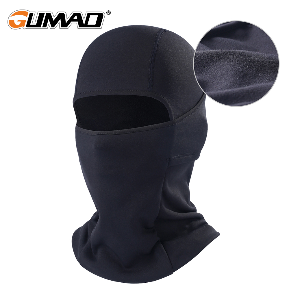 Winter Fleece Balaclava Black Full Face Mask Neck Warmer Thermal Head Cover Cycling Hood Liner Sport Ski Snowboard Scarf Hat Men