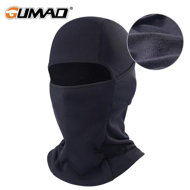 Winter Fleece Balaclava Black Full Face Mask Neck Warmer Thermal Head Cover Cycling Hood Liner Sport Ski Snowboard Scarf Hat Men