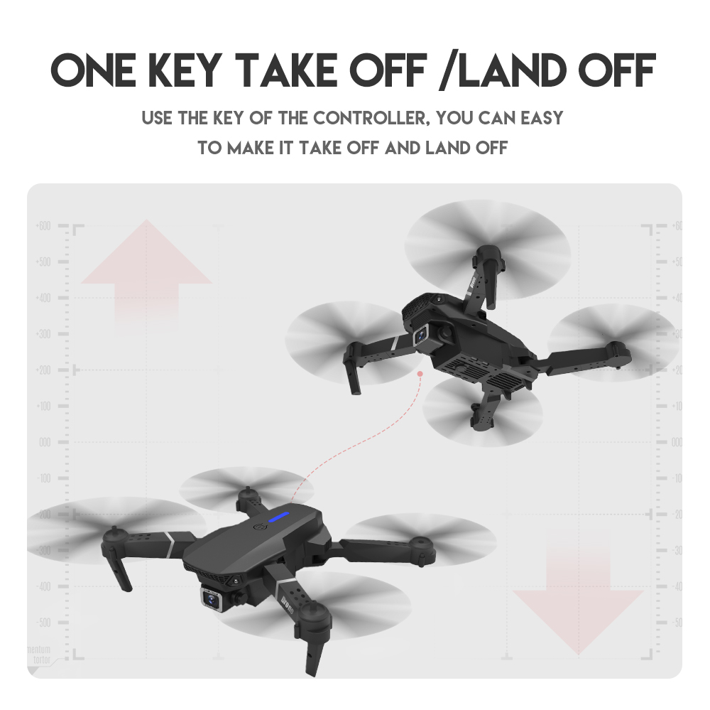 Drone Mini E525 Pro HD 4K 1080P Camera Obstacle Avoidance WiFi FPV Maintaining RC Foldable 3-Sided Drone 4k Profesional Kid 4