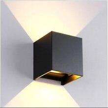 Светодиодный настенный светильник Алюминий поверхностного монтажа