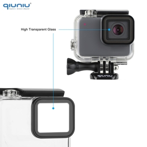 Image 4 - QIUNIU 40m Underwater Diving Waterproof Housing Case + Dive Lens Filter Kit for GoPro Hero 7 Silver/White for Go Pro 7 Accessory