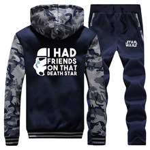 Star Wars Male Camo Set I Had Friends On That Death Star Men's Thick Sets Funny Men Hoodies 2019 Winter Warm Sportsman Wear(China)