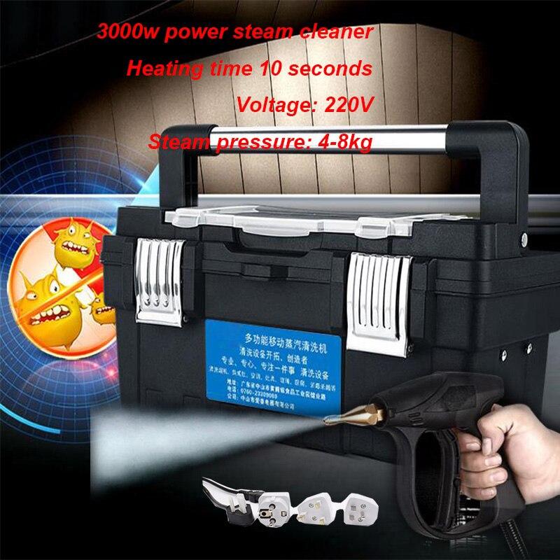 220 В 3000 Вт пароочиститель высокая температура и высокое давление коммерческий прибор вытяжка кондиционер чистящий инструмент