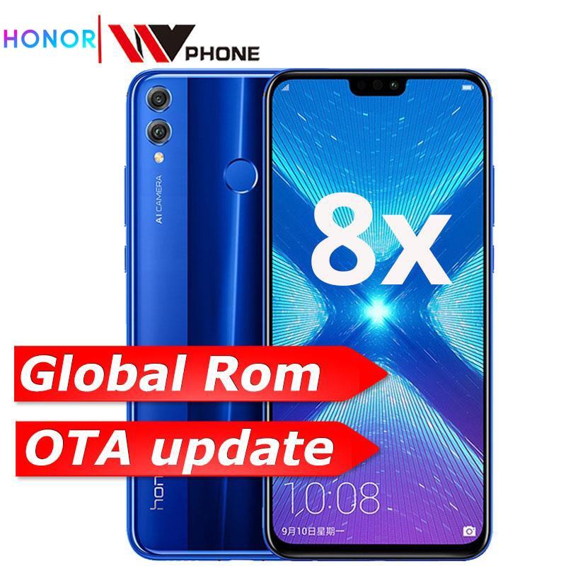Смартфон Honor 8X, глобальная прошивка, OTA обновления, Восьмиядерный процессор Kirin 710, Android 8,1, сканер отпечатка пальца, полный экран 6,5 дюйма, акку...