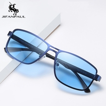 JIFANPAUL Men's sunglasses, square, UV400, metal, polarized