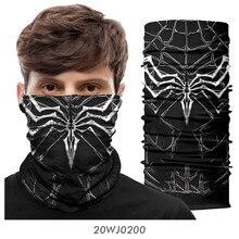 Bandana sem costura ciclismo esportes bandana balaclava pescoço buff ao ar livre máscara lavável cachecol protetor facial feminino homem aranha punisher