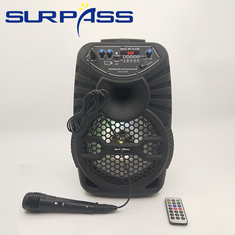 Big Power Portable Trolley Bluetooth Speaker Outdoor Wireless Music Subwoofer Stereo Sound System Center Support AUX TF FM Radio