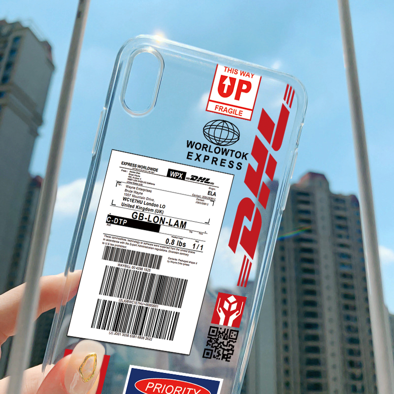 Hot Street <font><b>Case</b></font> <font><b>For</b></font> <font><b>iphone</b></font> 11 Pro Max Express Label Bar Code Clear <font><b>Case</b></font> <font><b>For</b></font> <font><b>iPhone</b></font> New SE 2020 X XR XS MAX 6 6S 7 8 Plus 5 Cover image