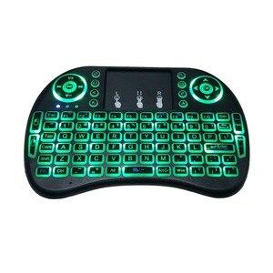 Image 4 - Bunte Backlit Russische Englisch Air Maus Mini Wireless Keyboard 2,4 GHz Touchpad Hintergrundbeleuchtung i8 Luft Maus für Android TV Box PC