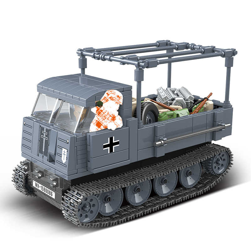 Military tank Building Blocks Fit Legoing half Tracked Vehicle ROS Bricks WW2 Army Police Soldier Weapon Toys Gifts For Children