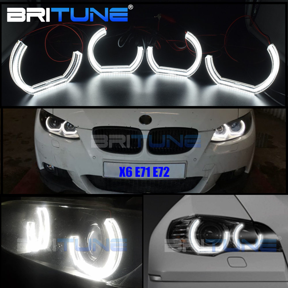 Led-Angel-Eyes Headlight Halo Car-Accessories Running-Lights Xenon E71 BMW for X6 Turn-Signal