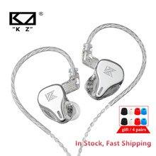 أحدث KZ DQ6 3DD ديناميكية محرك وحدة في الأذن سماعات HiFi الموسيقى سماعة رياضية مع 2PIN الفضة مطلي كابل KZ EDX ZSN برو ZSX