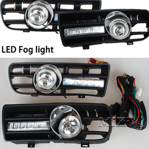 Image 2 - 2pcs Led DRL Daytime Running Lights Fog Lights Lamps Grille led Grill For VW Golf GTi 1997 2006 for TDI MK4 W/ Controller H3 55W
