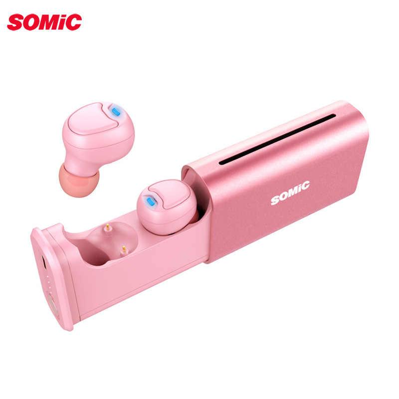 Somic TWS W20 słuchawka douszna Bluetooth inteligentna bezprzewodowa słuchawka prawdziwa bezprzewodowa Mini wkładka douszna dwustronny mikrofon stereofoniczny