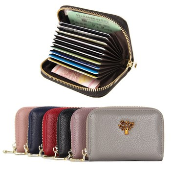 aetoo the first layer of leather 2017 new korean version of the small handbag female hard section leather black wild fashion kel The First Layer of Cowhide New Ladies Leather Organ Card Bag Fashion Korean Version of The Large-capacity Mini Zipper Coin Purse