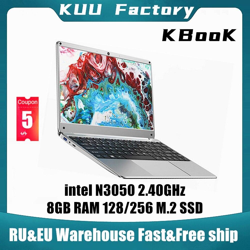 KUU KBooK 14.1 inch Intel N3350 8GB DDR4 RAM 256GB SSD Notebook IPS Laptop Full Layout Keyboard additional Sata 2.5 port 1