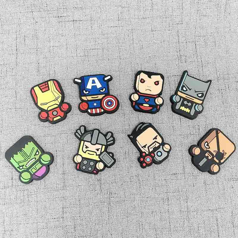 8 Pcs Cute Marvel Avenger Kartun Gambar Magnet Kulkas Souvenir Ikon Stiker Magnet Kulkas Hadiah Natal Dekorasi Rumah Hadiah Anak