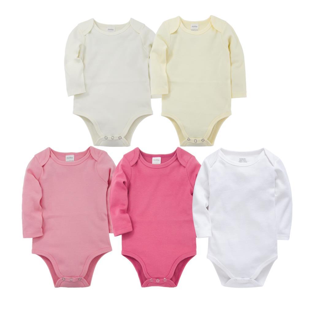 Baby Bodysuit Vest 4PCS Boys Girls Rompers Sleeveless Jumpsuit Cotton Clothes 0-24 Months
