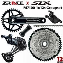 Slx M7100 、SL M7100 R + RD M7100 SGS + zrace hardrockクランクセット + zraceカセット + zraceチェーン 1 × 12s 5kitグループセット