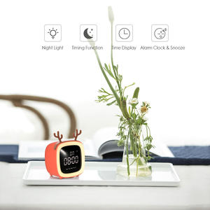 Alarm-Clock Night-Light Time-Date-Display Snooze-Function Brightness Adjustable Cute