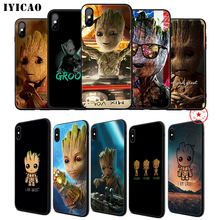 IYICAO I am a Groot Soft Phone Case for iPhone 11 Pro XR X XS Max 6 6S 7 8 Plus 5 5S SE Silicone TPU