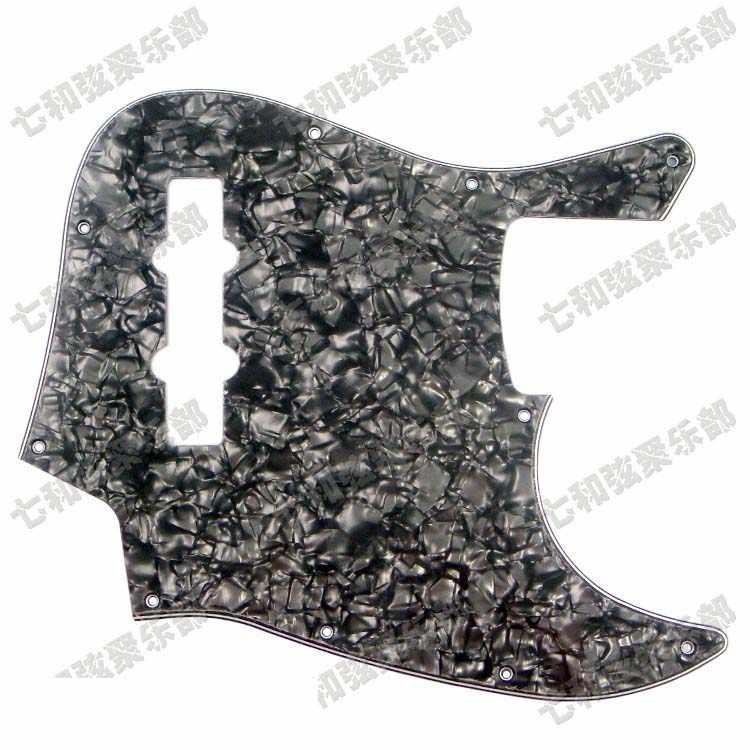 Черный жемчужный целлулоид и искусственной кожи ПВХ 3 слойная бас гитары 10 отверстие с крепежным винтом