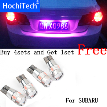 1pc safe No error T10 light 194 W5W LED license plate lights LED Lamp For Outback Tribeca Legacy Forester Impreza image