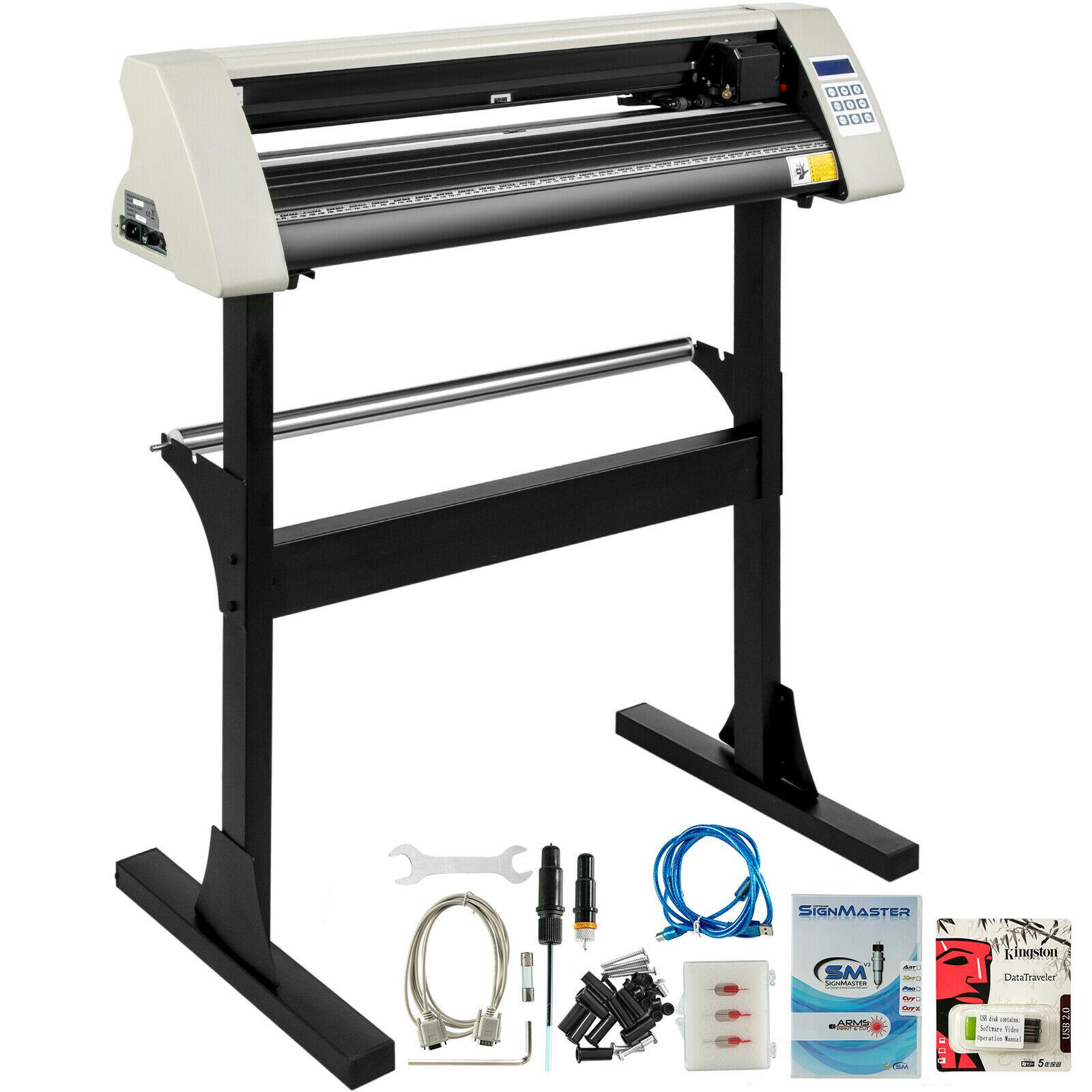 Виниловый режущий плоттер, режущий плоттер 28 дюймов, Signmaster программное обеспечение + расходные материалы
