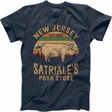Vestuário satriales porco loja vintage retro t camisa sopranos 7315