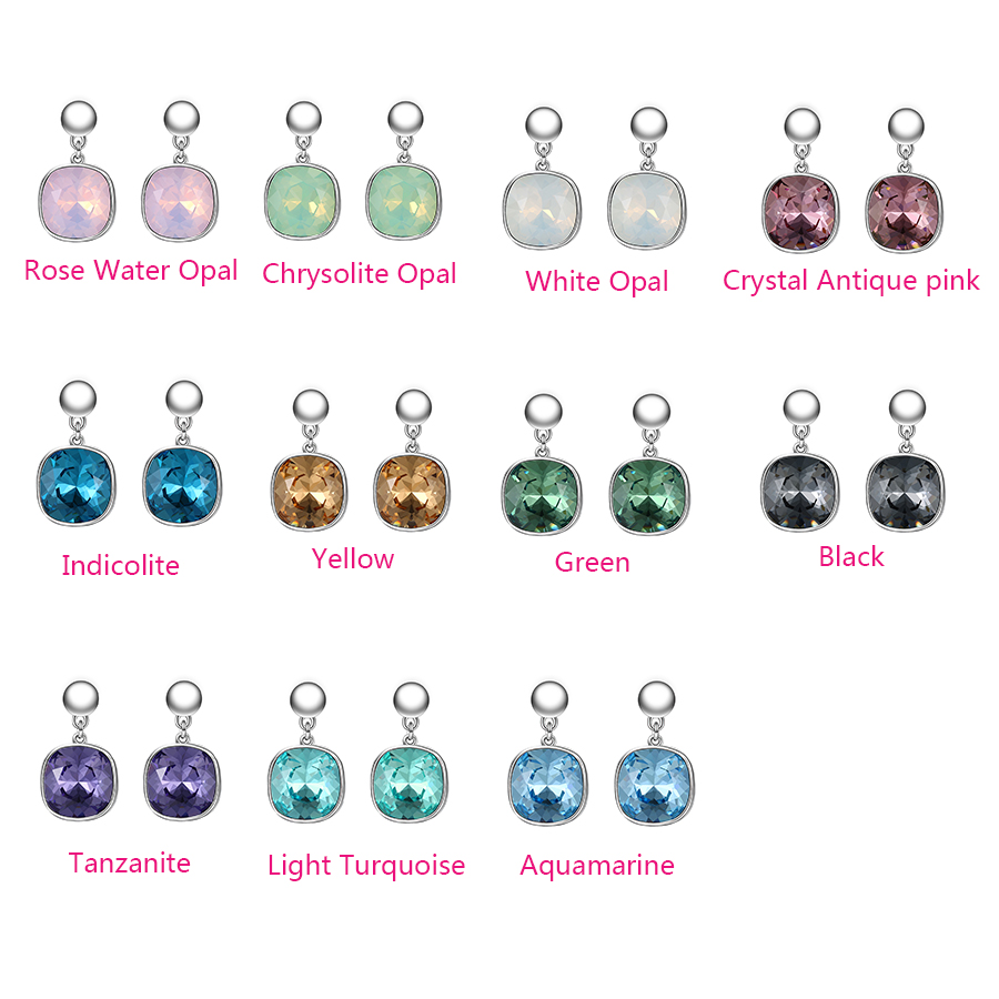 H6569246388ad4bfabdde6e493d4500dfG - Xuping Square Earrings Crystals from Swarovski Luxury Vintage Style Jewellery Women Girl  Valentine's Day Gifts M94-20493