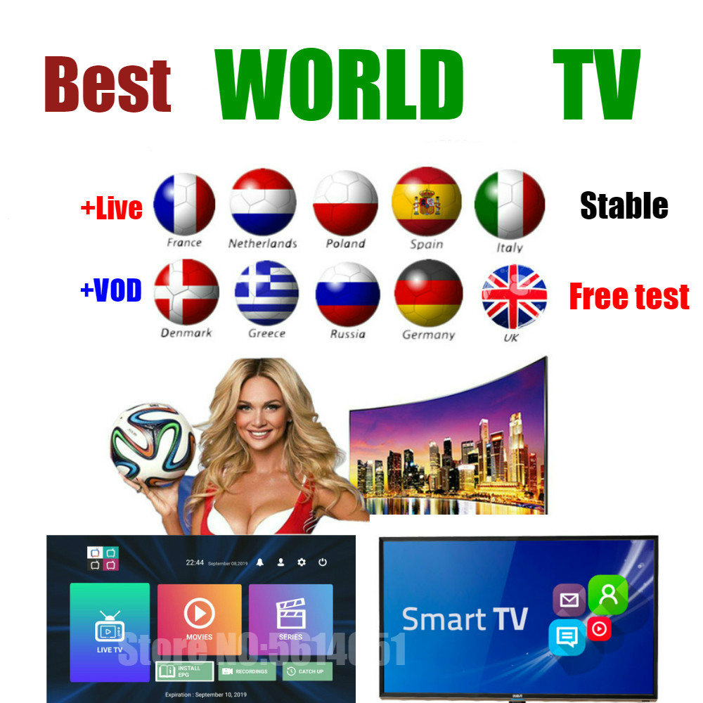 Stable IPTV M3U abonnement Europe UK USA IPTV code xxx vod <font><b>Belgium</b></font> Netherlands Portugal Greece Germany italy for Android box image
