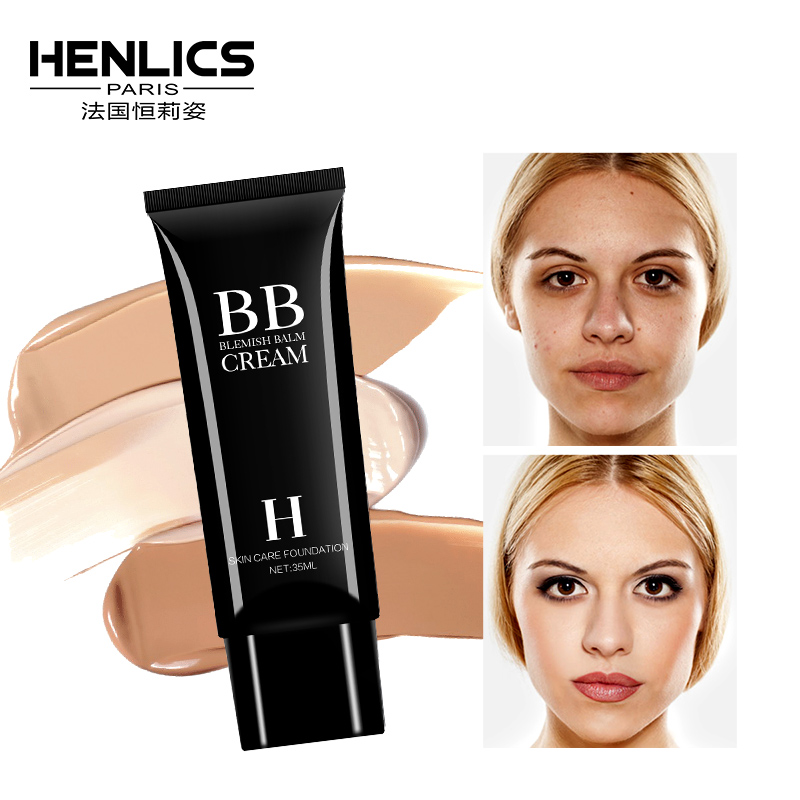 Henlics Korea Cosmetics Face Cream Concealer BB CC Cream Whitening Oil Control Foundation Base Maquiagem Profissional Completa