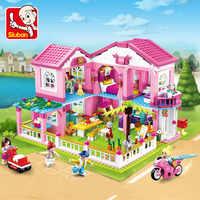 Gran jardín Villa Juguetes Casa de la ciudad juegos de bloques de construcción Barco de yates Castillo LegoINGLs amigos Lepinblocks Juguetes para niñas