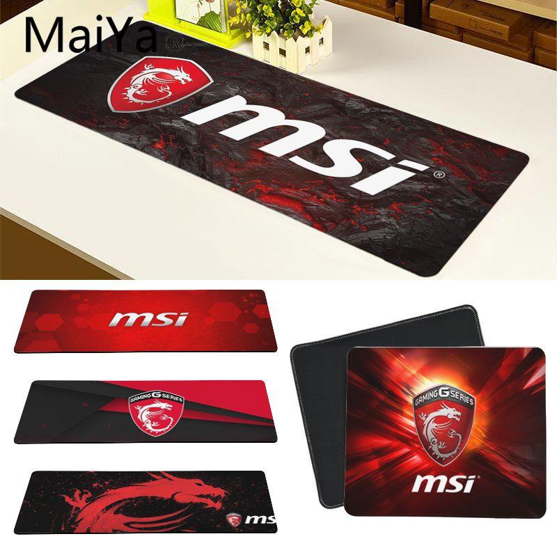 Maiya Top Quality MSI Dragon Game DIY Design Pattern Game Mousepad Free Shipping Large Mouse Pad Keyboards Mat