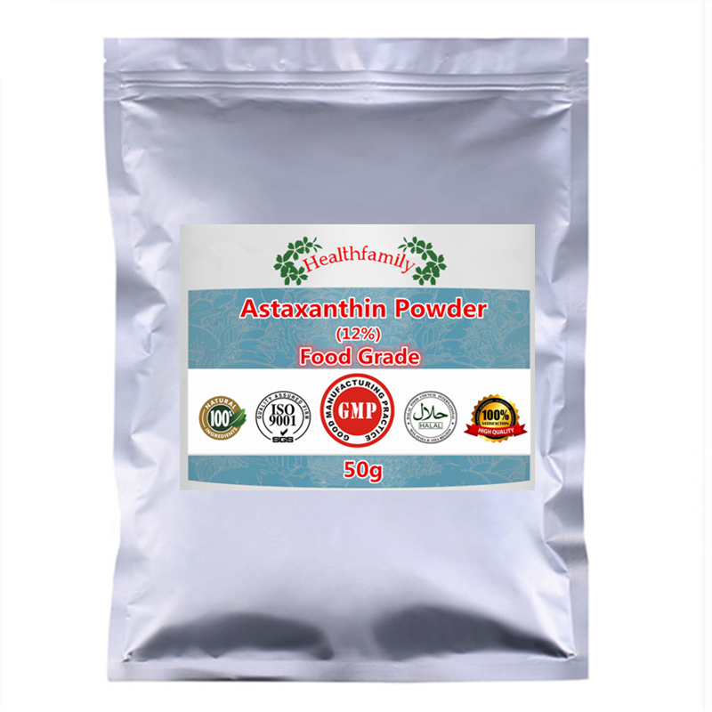 Newest 12% Astaxanthin Haematococcus Pluvialis Extract Powder Better Antioxidant Delay Aging
