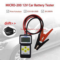 Микро-200 12V автомобиль Батарея тестер CCA100-2000 автомобильный диагностический инструмент автомобильный Батарея Системы анализатор USB для печа...