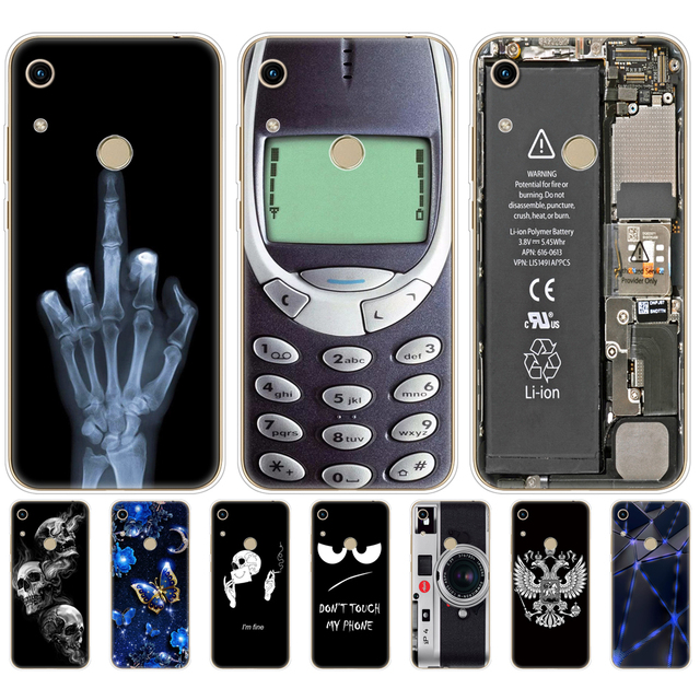 Onur için 8A kılıf Huawei onur için 8A başbakan durumda silikon TPU sevimli geri durumda Huawei onur 8A JAT LX1 kapak cep telefonu çantası