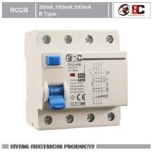 RCCB ETL2-63B 4P B type 400/415V~ 50HZ/60HZ Residual current circuit breaker 30mA 100MA 300MA 4p 40a 30ma 220v 380v 400v ac magnetic type residual current circuit breaker rcd rccb