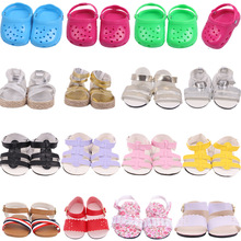 Sandals Doll-Shoes Reborn Baby Nenuco 18inch Plastic Summer Fit Gift Holiday PU for Children