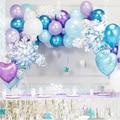 Платье принцессы вечерние украшения Рождественские снежинки воздушный шарик из фольги в форме детская праздничная одежда; Дети 1st на день р...